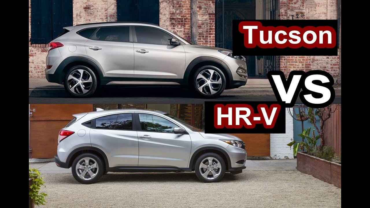 Rdx Vs Crv >> 2016 Hyundai Tucson VS 2016 Honda HR-V - DESIGN! - YouTube