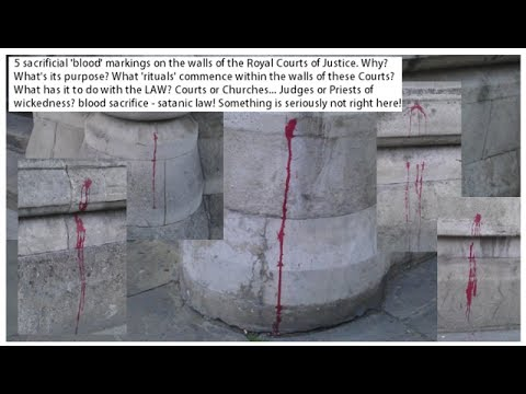 EXCLUSIVE Royal Courts & Government Buildings 'Ritual' Blood.. Why?