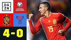 Rodrigo und Paco Alcacer treffen doppelt: Spanien - Färöer-Inseln 4:0 | EM-Quali | DAZN Highlights
