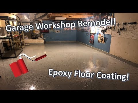 Garage Workshop Remodel! - DIY Epoxy Floor Coating!!