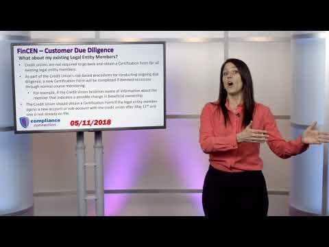 Compliance Outlook - FinCEN Customer Due Diligence