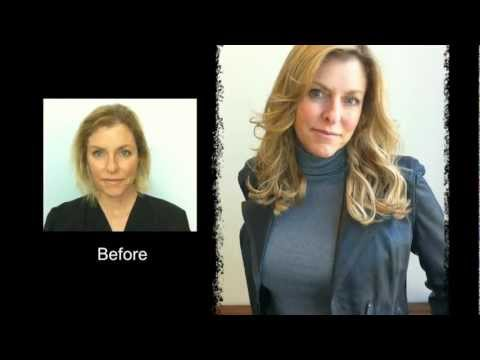 hair extensions for short fine thin hair | before and after - youtube