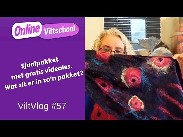 Viltvlog #57 Sjaalpakket met gratis videoles. Wat zit er in zo'n pakket?
