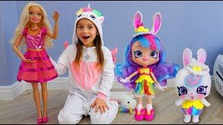 София и Новая Кукла Барби Веселое видео для детей про игрушки