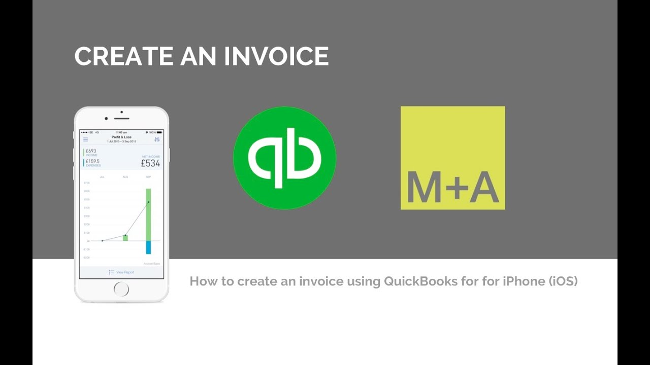 Create An Invoice Quickbooks App For IPhone And IPad IOS YouTube - How to make an invoice on iphone