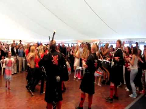 Team conga at Nairn Curtis Cup ceilidh
