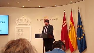 """López Miras reprocha la """"injerencia"""" del Gobierno central para""""boicotear"""" el acuerdo de Presupu"""