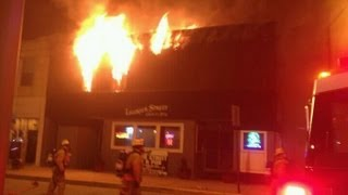 Latrobe Pa - Ligonier Street Grub and Pub Fire - HD/3D