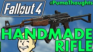 FALLOUT 4 Nuka World DLC - Handmade Rifle Weapon Analysis, Review and Location PumaThoughts