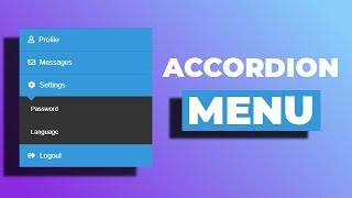 Gambar cover Awesome accordion menu using only HTML & CSS