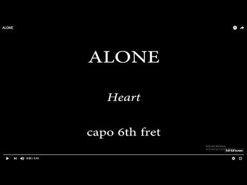 ALONE - Heart (easy chords and lyrics) 6th fret