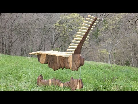 Making Floating Launge Chair // Split Rock Effect With LED lights