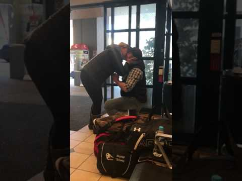 Marriage Proposal at the Coach Terminal in Canberra, Australia