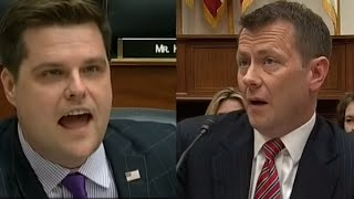 Rep. Gaetz has intense exchange with Peter Strzok