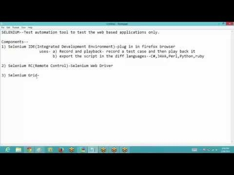 Selenium Introduction Part 1 | Selenium Tutorial for Beginners Part 1