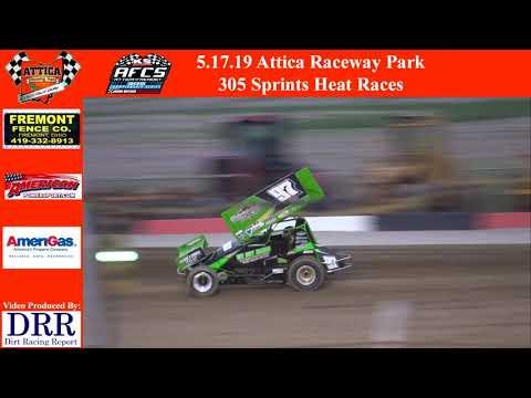 5.17.19 Attica Raceway Park 305 Sprints Heat Races