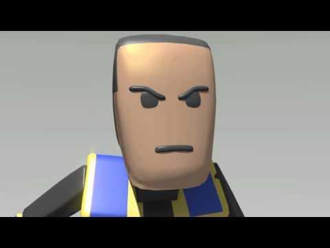 Animation studies - Fight Scene - Blender 2.7