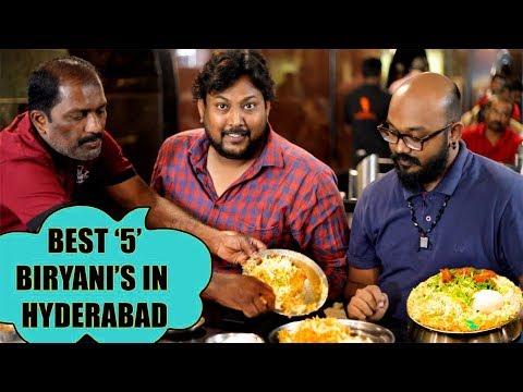 MY BEST 5 BIRYANIS IN HYDERABAD | Must Try Biryanis In Hyderabad