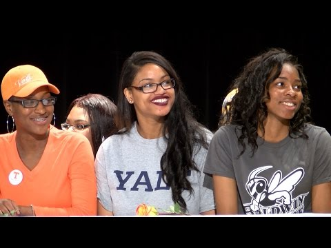 """Cleveland seniors, families celebrate """"College Signing Day"""""""