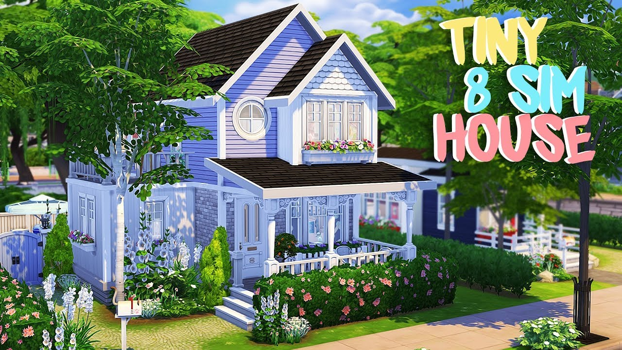 TINY 8 SIM HOME 💕 | The Sims 4 | Speed Build - YouTube