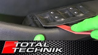 How to Remove Window Switch (Main Drivers Side) - Audi A6 S6 RS6 - C5 - 1997-2005 - TOTAL TECHNIK
