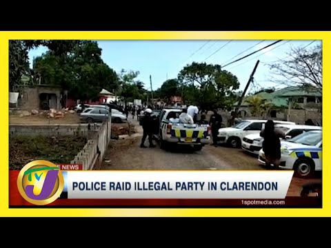 Police Raid Illegal Party in Clarendon, Jamaica   TVJ News