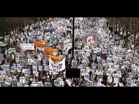 Historical anti-war protest in London: 15 February 2003