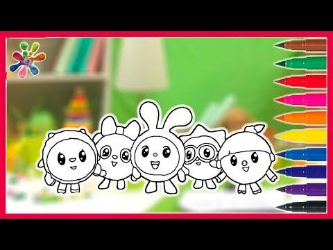 Рисуем МАЛЫШАРИКИ. мультик.Drawing Malyshariki/.Раскраски для детей.