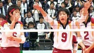 第65回全日本バレーボール高等学校選手権大会 第3日 07,Jan.2013 細田学...
