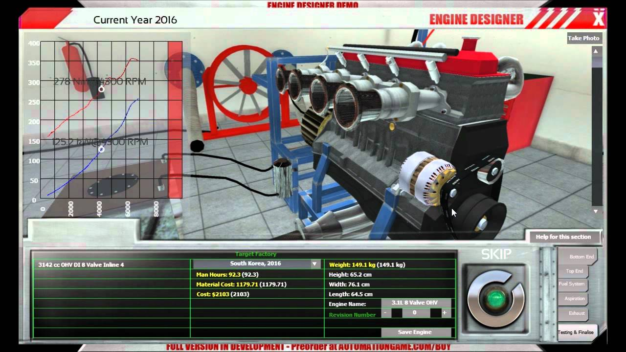Car Engine Simulator Game