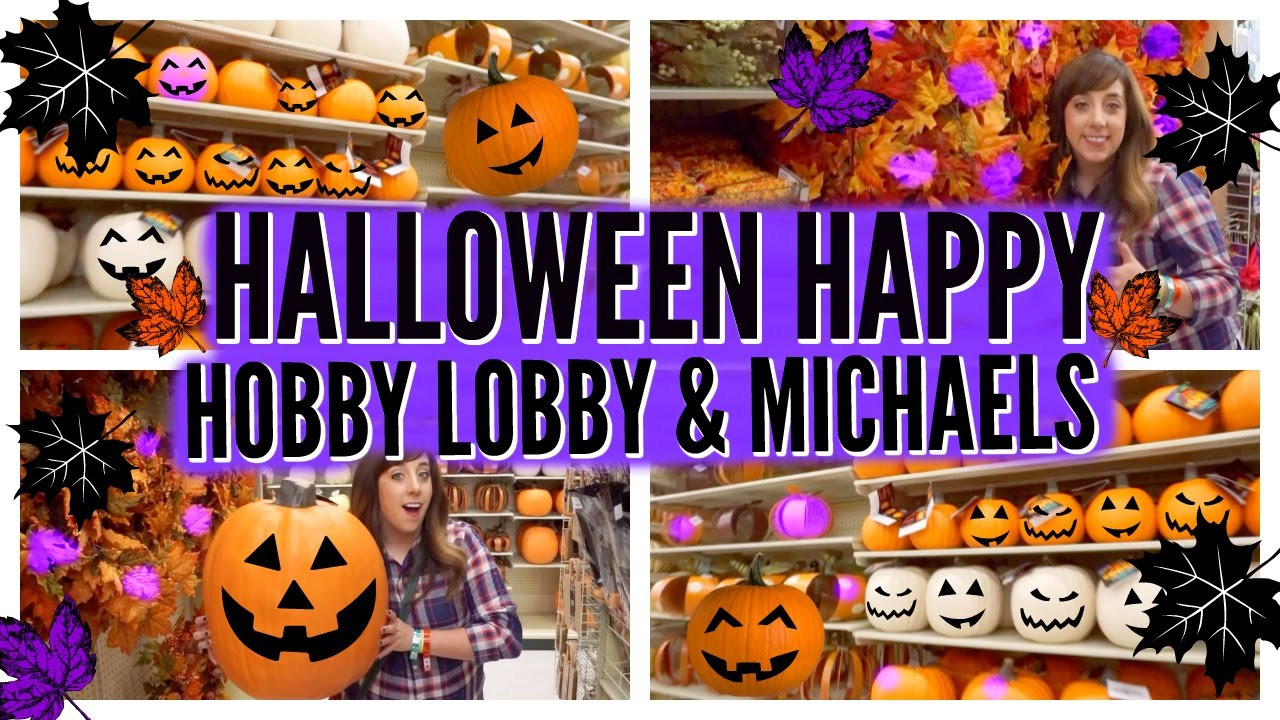halloween happyfall at hobby lobbymichaels 2 2016 youtube - Michaels Halloween Decorations