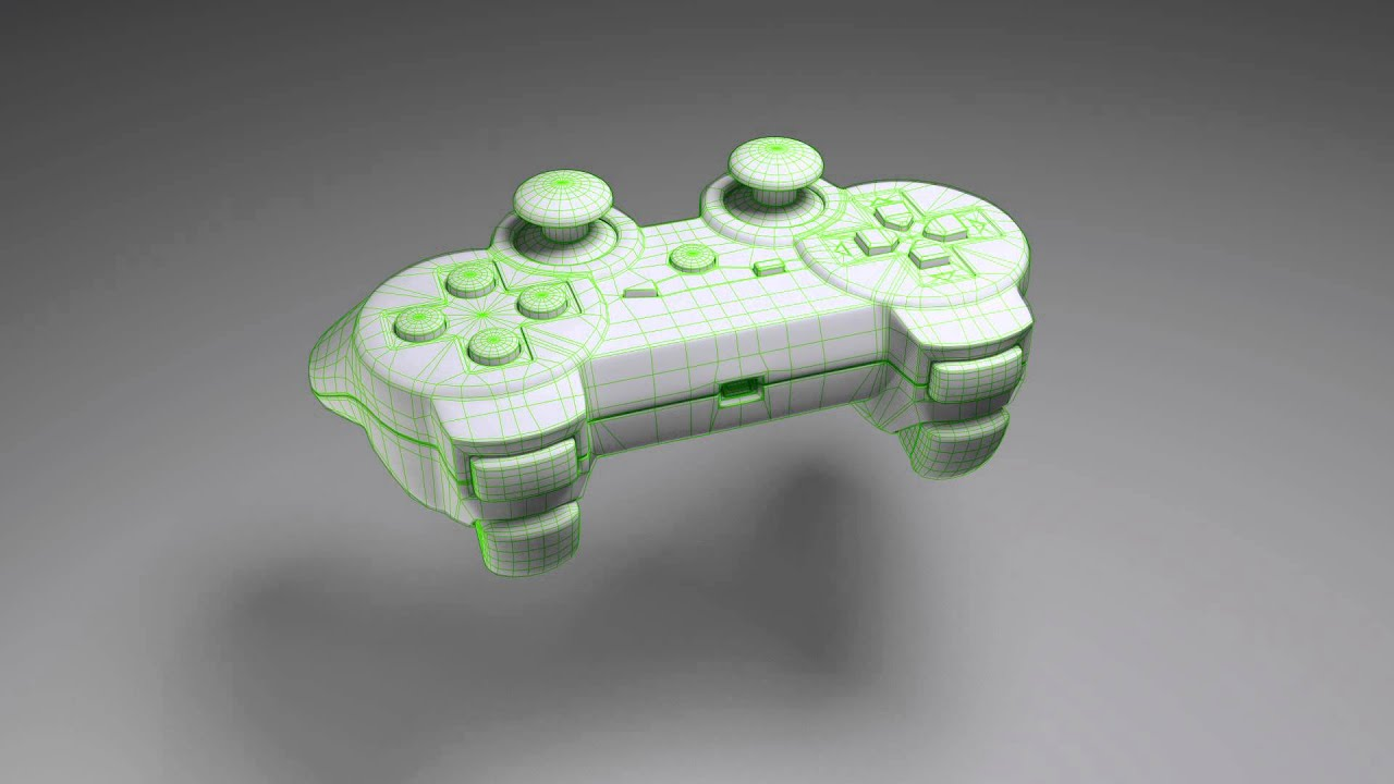 3D Model - PS3 Controller - YouTube