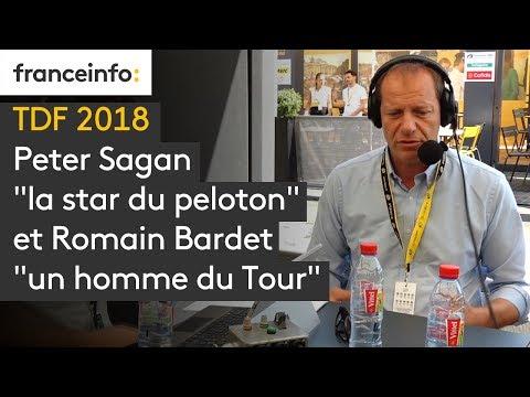 """Tour de France 2018 : Peter Sagan """"la star du peloton"""" et Romain Bardet """"un homme du Tour"""""""