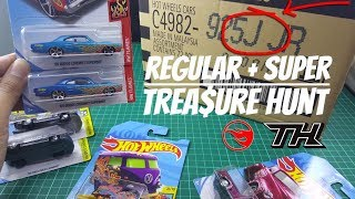 2018 Hot Wheels J Case - COMBO FIND !!!  Super Treasure Hunt + Regular Treasure Hunt !!