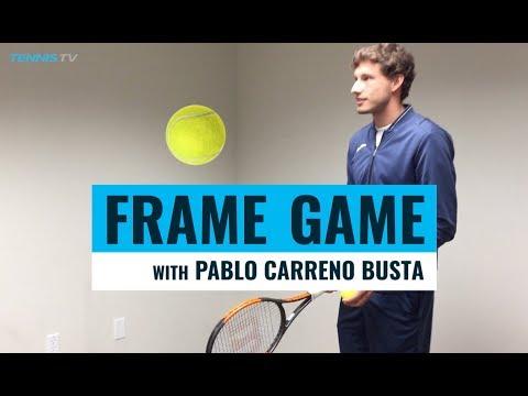 FRAME GAME: Pablo Carreno Busta SMASHES tennis keepie uppie challenge