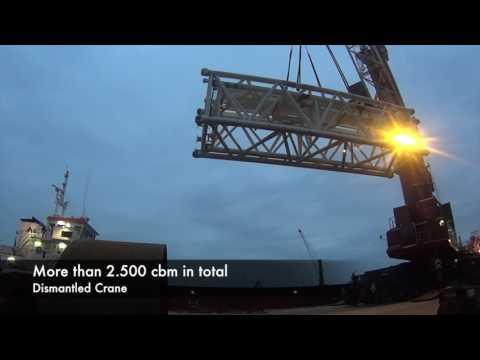 24 VN Navegación   -Spain-   Shipping Dismantled Cranes