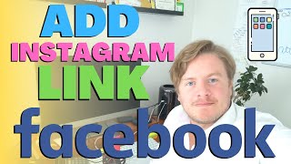 How To Add Instagram Link To Facebook