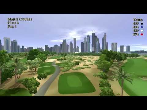Emirates Golf Club, Majlis Course Flyovers Holes 1 18