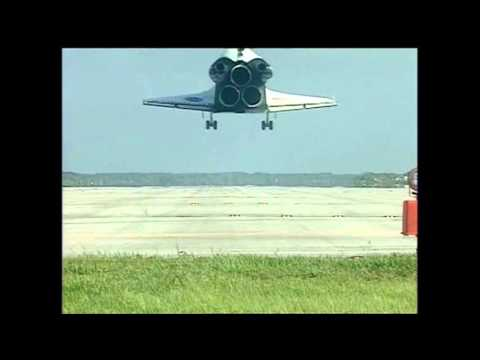 Space shuttle sound during the landing