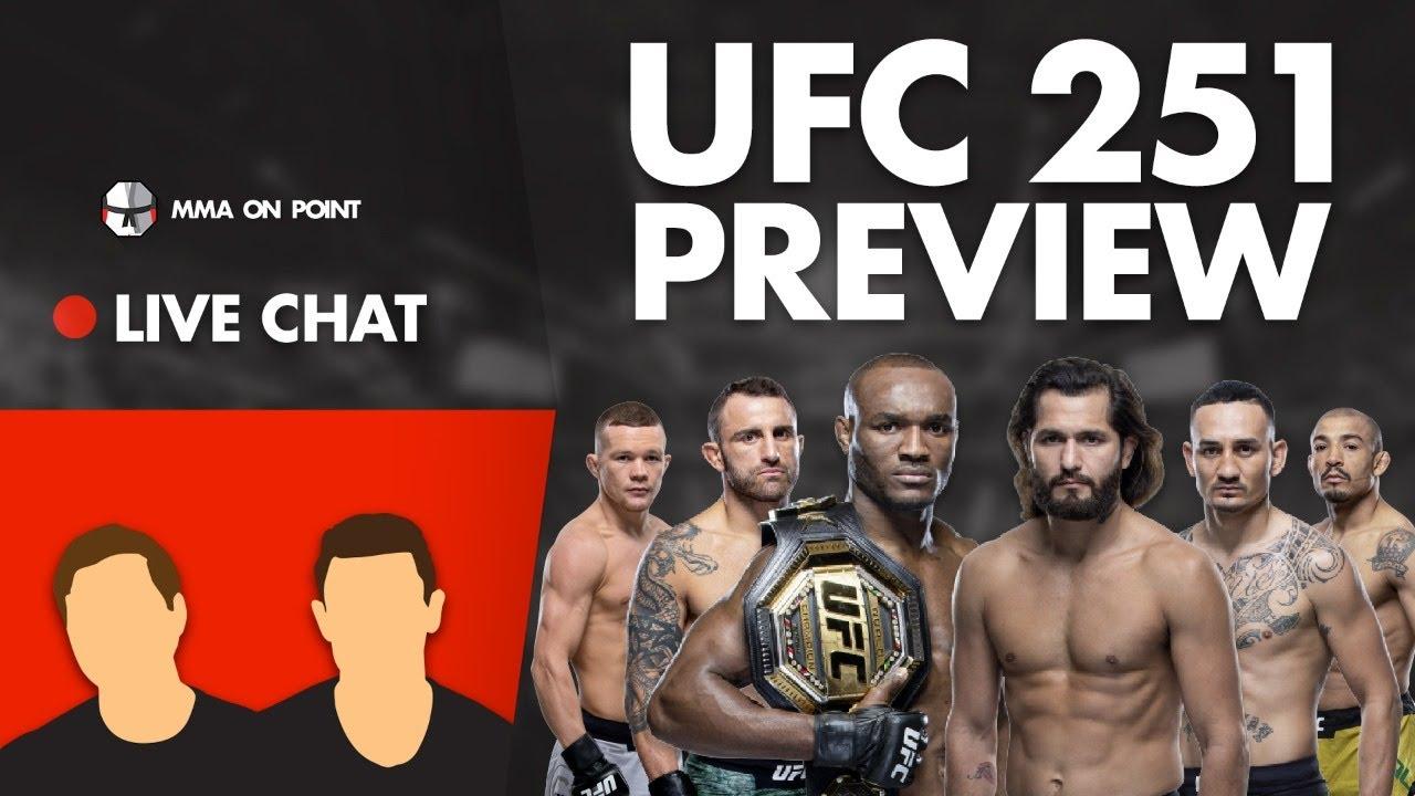 MMA On Point Live Chat: UFC 251 - Masvidal vs Usman, Holloway vs Volkanovski & Yan vs Aldo