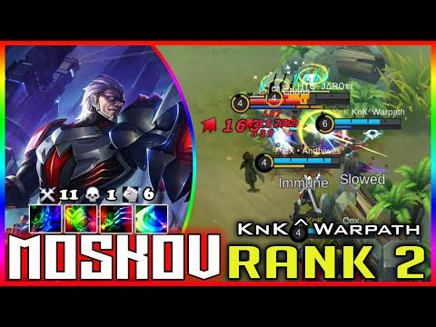 There is No i in Team! KnK^Warpath Top 2 Moskov mobile legends build & gameplay