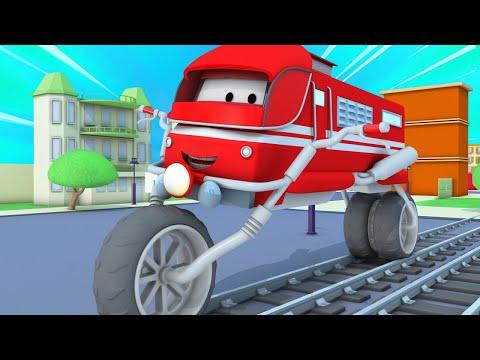 Поезд Трой -  Поезд мотоцикл - Автомобильный Город 🚄 детский мультфильм