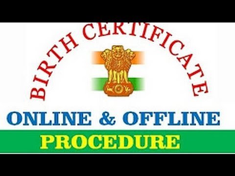how to apply for birth certificate in india with csc online ...