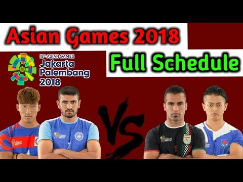 Asian Games 2018 Full Schedule