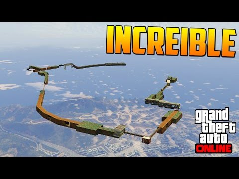 INCREIBLE! SUPER PARKOUR IMPOSIBLE! - Gameplay GTA 5 Online Funny Moments (Carrera GTA V PS4)