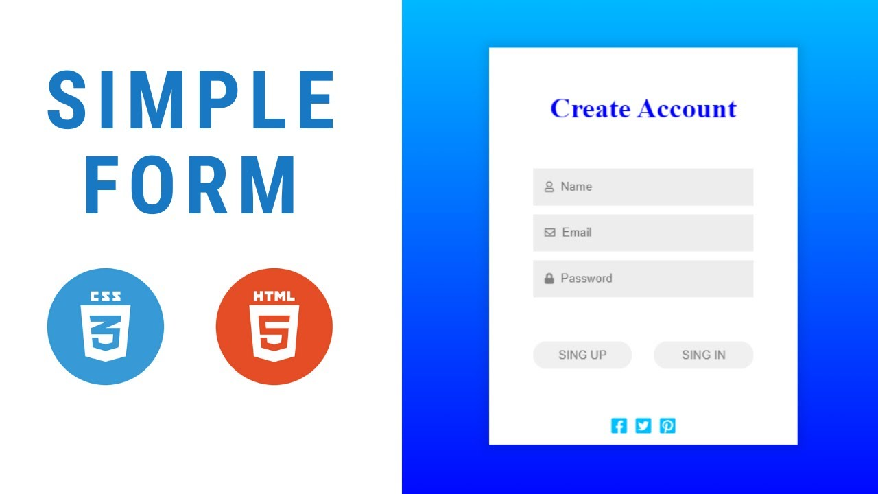 simple login form using html and css