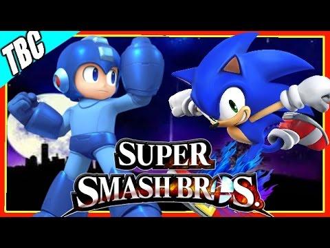 Megaman vs sonic super smash bros 4 3ds amp wii u youtube
