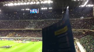 70.000 Italian fans singing national anthem before Italy - Sweden