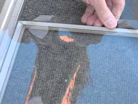 How To Install Clear Plastic In Screen Frame Part 1