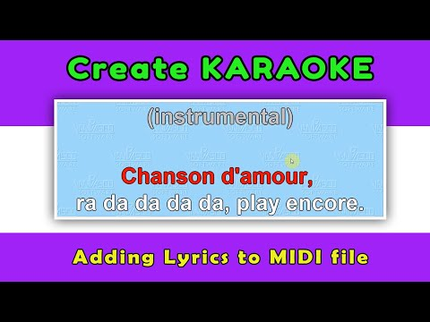 Adding Lyrics To Midi File - Create Karaoke